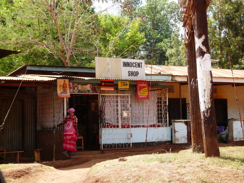 Eva Hunt finds an innocent shop in Tanzania