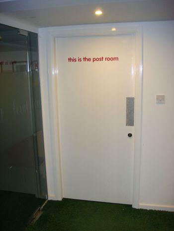 Post room