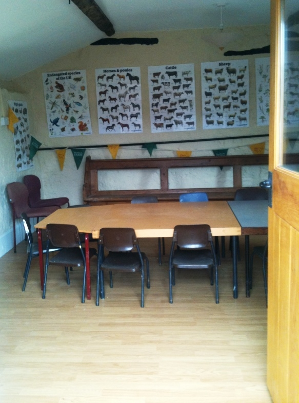 Shiney floor classroom