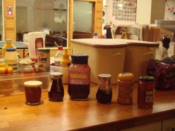 Condiment line up