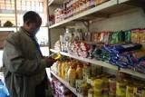 Habtamou in supermarket