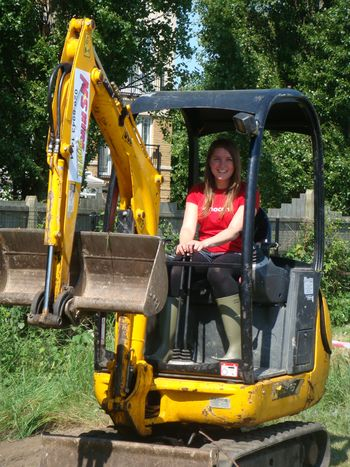 Lou in the digger
