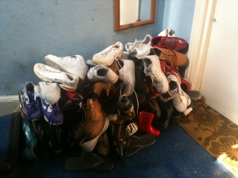 Shoe mountain