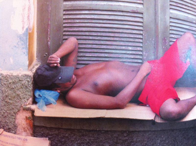 Napping man