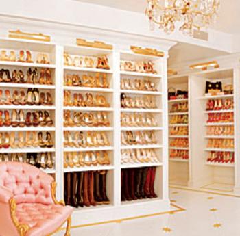 Mariah's shoe closet