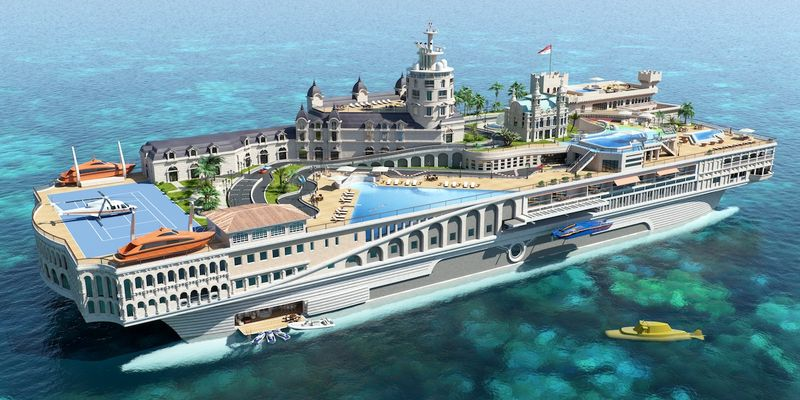 Billion dollar yacht