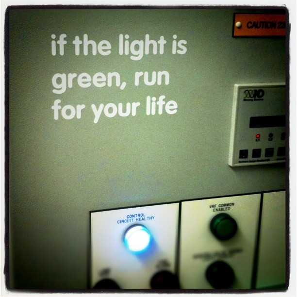 If the light is green run for your life