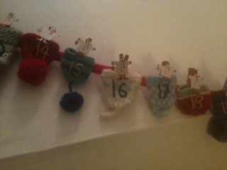 Marisa's advent calendar big knit hats