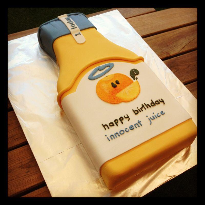 Carafe 1st birthday cake
